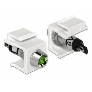 Keystone moodul: roheline 6V LED, valge