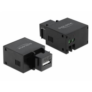 Keystone moodul: USB A - 2pin terminal block, 2.1A, must