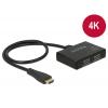HDMI splitter, 1 sisse / 2 välja, USB toide (3D, 4K 2160p30Hz, HDCP)