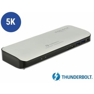 Thunderbolt 3 dock: 1xHDMI 5K, 5xUSB 3.0, 2xUSB-C, 1xSD, 1xGigabit RJ45,1x3.5mm 4 pin, sobib ka Macbookile ja Chromebookile