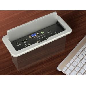 Universaalne multimeedia konverter, 2xUSB-C (F), 2xHDMI (F), Mini DP (F), VGA (F) 4K/1080p@60Hz, 2xRJ45, 1xUSB-A (F), 3.5mm (F), süvistatav