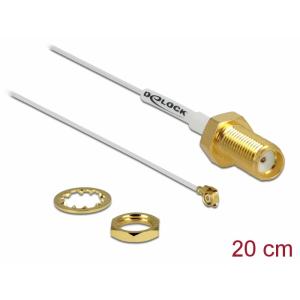 Üleminek antennile SMA - MHF II 0.81, 20cm, 10mm keermega