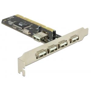 USB 2.0 laienduskaart : PCI, 5 x USB 2.0 A (4-välist / 1-sisemine)