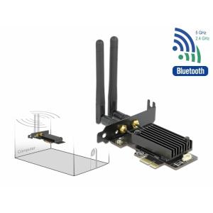 WiFi võrgukaart: PCIe x1, kuni 2400Mbps, ax/ac/a/b/g/n, Bluetooth 5.1