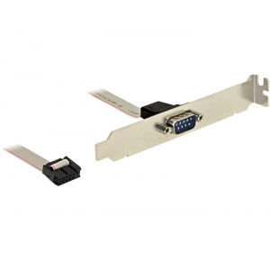 Slot Bracket - 1 x Serial DB9, 0.27m