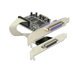 Laienduskaart: PCIe x1, 2 x Parallel DB25