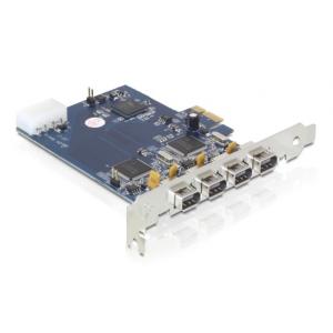 Laienduskaart: PCIe x1, 4 x FireWire 1394A