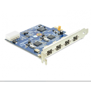 Laienduskaart: PCIe x1, 4 x FireWire 1394B
