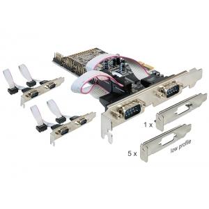 Laienduskaart: PCIe x1, 6 x Serial RS-232...