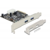 USB 3.1 laienduskaart : PCIe, 2xUSB 3.1 Gen 2 A 10-Gigabit (Standard + Low Profile)