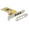 PCI kaart 3 x FireWire 1394a välist porti, 1 x FireWire 1394a sisemine port (Low profile komplektis)
