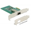 Võrgukaart: PCIe x1, 1000-Base SFP pesa, standard + low profile (intel i210 kiibistik)