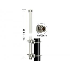 Ringantenn: 12 dBi b/g/n 2.4GHz, välitingimustele, kinnitus komplektis, N