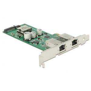 Võrgukaart: PCIe x1, 2 x Gigabit LAN PoE+ RJ45 30W
