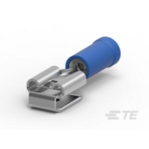 6,35x0,81mm pistik/pesa 1,0...2,5mm² juhtmele, sinine