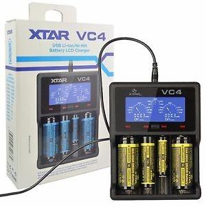 4-kohaline USB laadija Li-Ion/NiMH/NiCd akudele, Xtar VC4