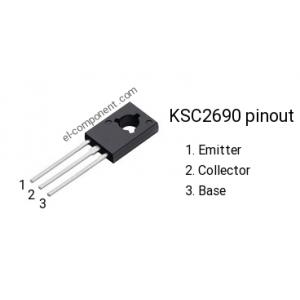 Transistor KSC2690AYS NPN 1.2 A, 160 V, TO-126