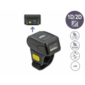 Ribakoodilugeja, juhtmevaba, 2.4 GHz või Bluetooth, 1D, 2D
