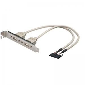 USB 2.0 väljavõtteslott 2x 5 pin 0.2m