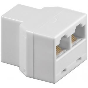 ISDN T-Adapter, RJ45 (F, 8P8C) > 2 RJ45 (F, 8P8C)