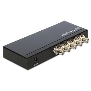 BNC splitter, 1 BNC (F) 3G-SDI sisse , 4 BNC (F) 3G-SDI välja