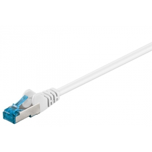 Võrgukaabel Cat6a S/FTP 30.0m, valge PiMF LSZH, CU