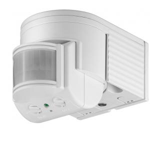 PIR-liikumisandur pinnapealse kinnitusega, 180°, 300W, IP44, sobib LED-de jaoks, valge