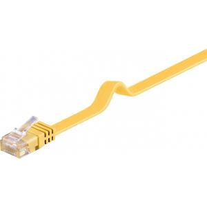 Võrgukaabel Cat6 UTP 1.0m, kollane, lapik, CU