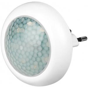 LED valgusti pistikupessa, 40lm,1W, liikumisanduriga, külm valgus