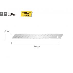 OLFA AB-10S Tagavaraterad AB-10S, roostevaba teras, pakis 10tk (9mm)