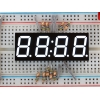 White 7-segment clock display - 0.56 digit height