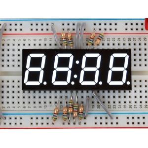 7-segment LED displei, 4 kohta, 14mm, valge