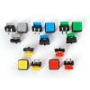 Mikrolülitite valikkomplekt, kandilise nupuga, 15 tk, 5 värvi