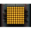 LED maatriks 8x8, 30mm, kollakas-oranž