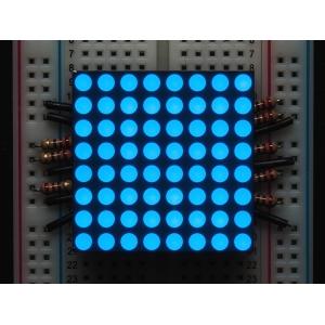 LED maatriks 8x8, 30mm, sinine