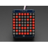 Adafruit Small 1.2 8x8 LED Matrix w/I2C Backpack - Red