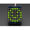 Adafruit Small 1.2 8x8 LED Matrix w/I2C Backpack - Yellow-Green