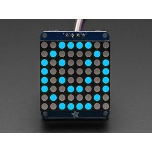 LED maatriks 8x8, 30mm, I2C draiveriga, sinine