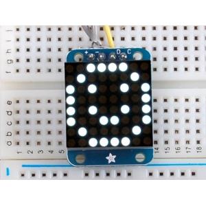 LED maatriks 8x8, 20mm, I2C draiveriga, valge