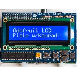 Adafruit BlueWhite 16x2 LCD+Keypad Kit for Raspberry Pi