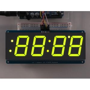 7-segment LED displei I2C draiveriga, 4 kohta, 30mm, roheline