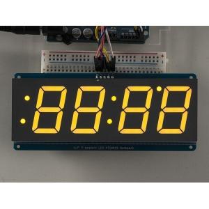 7-segment LED displei I2C draiveriga, 4 kohta, 30mm, kollane