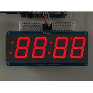 7-segment LED displei I2C draiveriga, 4 kohta, 30mm, punane