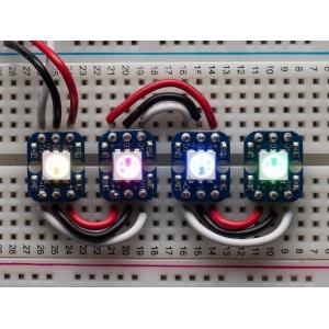 NeoPixel RGB LED trükkplaadil, 4 tk