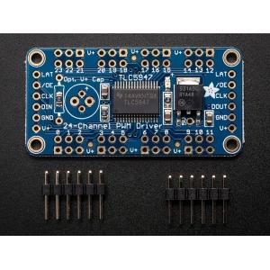 LED displei draiver, 24 kanalit, 12-bit PWM, SPI liides