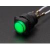 Nupplüliti 16mm, LED valgusega, roheline