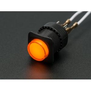 Nupplüliti 16mm, LED valgusega, kollane