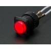 Nupplüliti 16mm, LED valgusega, punane, On-Off