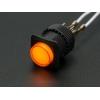 Nupplüliti 16mm, LED valgusega, kollane, On-Off