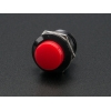 16mm Panel Mount Momentary Pushbutton -  Red